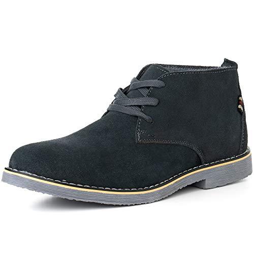 alpine swiss Beck Mens Genuine Suede Chukka Boots Gray 12 M ()