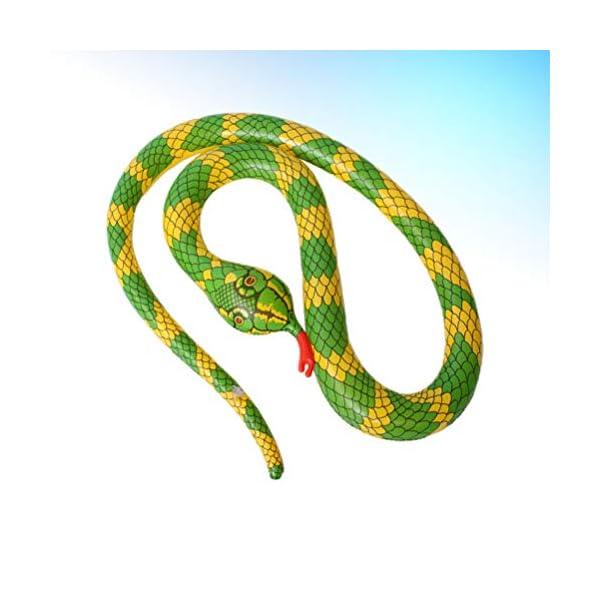 TOYANDONA Serpente Gonfiabile Galleggiante Gonfiabile Giocattolo Palloncino Serpente Spaventoso per Giardino Fattoria… 4 spesavip