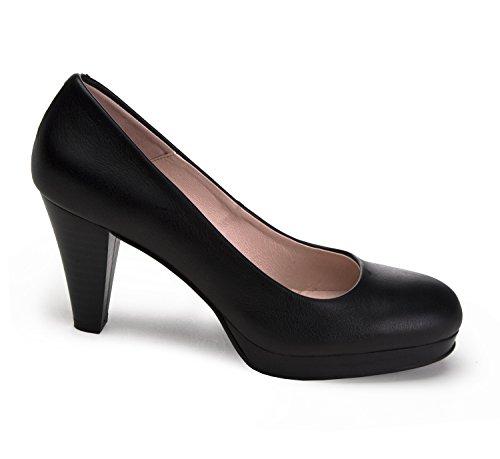 zeddea Protocolo negro - zapatos de tacón cómodos para mujer