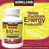 Kirkland Signature Sublingual B-12 5000 mcg, 300 Tablets, Health Care Stuffs
