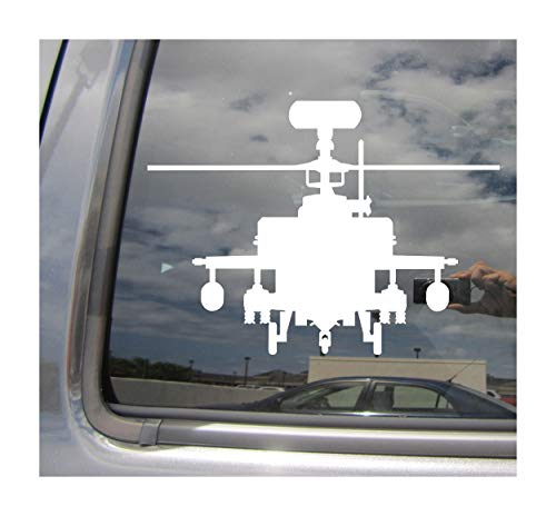Right Now Decals - Attack Helicopter Chopper #2 - War Army Navy Marines Air Force Military - Cars Trucks Moped Helmet Hard Hat Auto Automotive Craft Laptop Vinyl Decal Window Wall Sticker 09039 ()