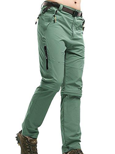 Convertible Full Leg Pant (Men's Outdoor Water-Resistant Lightweight Zip Off Quick Dry Hiking Convertible Military Cargo Pants #M1111/Bean Ash/US 32)