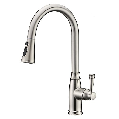 Lazada Single Handle Solid Brass Pull Out Sprayer Kitchen Mixer Tap