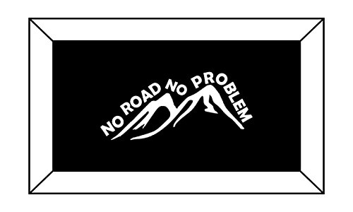 T1437 Off Road - No Road No Problem Decal Sticker - 3.00