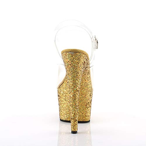 Pleaser Women's Adore-708LG Ankle-Strap Sandal