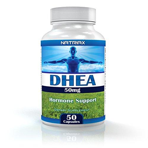 DHEA déhydroépiandrostérone 50mg - 50 capsules faciles à avaler - Dietary Supplement Hormone Anti-Âge - équilibrer vos hormones et se sentir plus actif - pour hommes et femmes - 10% de réduction sur votre Autres ordonnances