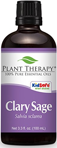 Plant Therapy Clary Sage Essential Oil 100 mL  100% Pure, Un