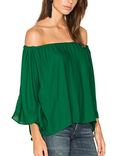 Ally-Magic Women's Off Shoulder Tops Short Sleeves Shirt Strapless Blouses