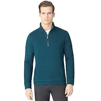 Calvin Klein New Pine Green Half-Zip Sweatshirt Msrp $79.5 DBFL