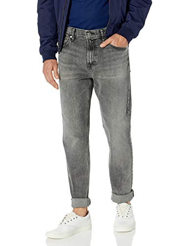Calvin Klein Men's Relaxed Straight Jeans, Deadwood Black, 33W x 32L