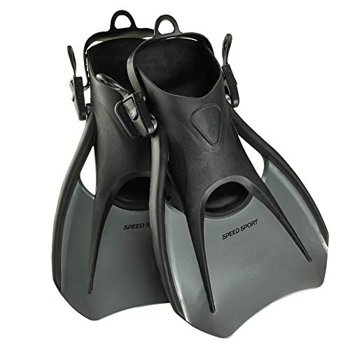Swim Fins Heel Open - Phantom Aquatics Snorkeling Diving Fins - Open Heel Traveling Sport Fins - SL-LG