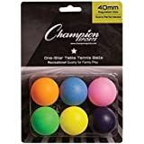 Champion Sports 1 Star Table Tennis Balls