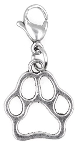 It's All About...You! Puppy Paw Stainless Steel Clasp Clip on Charm 75Aj