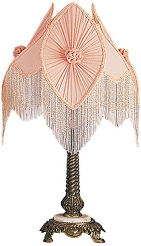 Meyda Tiffany 19226 Fabric & Fringe Pontiff Accent Lamp, 15