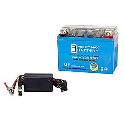 YTX4L-BS GEL Replaces ATV Quad Dirt/Pit Bike 125CC + 12V 1Amp Charger - Mighty Max Battery brand product