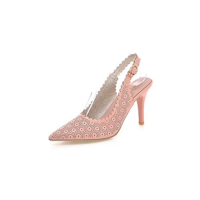 Yff Scarpe Donna Stiletto Heel sling Back punta Sandali talloni arrossendo Pink us5 5