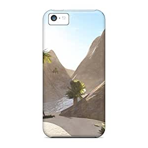 Iphone 5c Hard Back With Bumper Silicone Gel Tpu Case Cover Hidden River