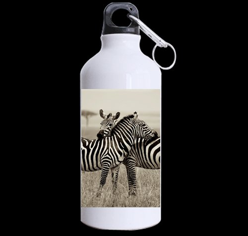 National Geographic Animals Zebras DIY Personalized Custom Sport Water Bottle Travel Cup Design Your Own Nice Gift Art Prints Twin Sides