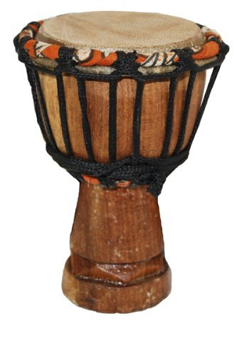 "African Djembe Drum Mini Desktop Gift - 2"" X 4"" - Really Works!"