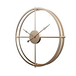 Aero Snail 3D Hollow Metal Wall Clock Modern Home Decor Round 16-Inches Hanging Clock Creative Style (Gold)