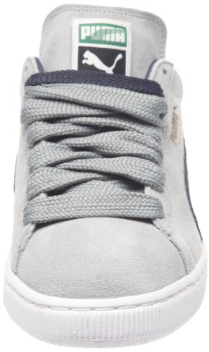 Puma Suede Classic+, Baskets Basses Mixte Adulte Gris (Limestone/Navy/White/Gold)
