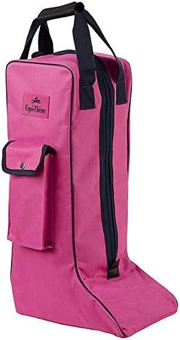 Equitheme Stiefeltasche pink/dunkelblau Reitstiefeltasche Tasche für Reitstiefel Stiefelbeutel
