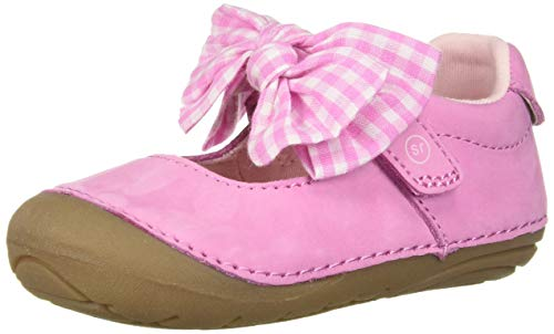 Stride Rite Soft Motion Esme Girl's Casual Mary Jane Flat, Pink Gingham, 6 M US Big Kid ()