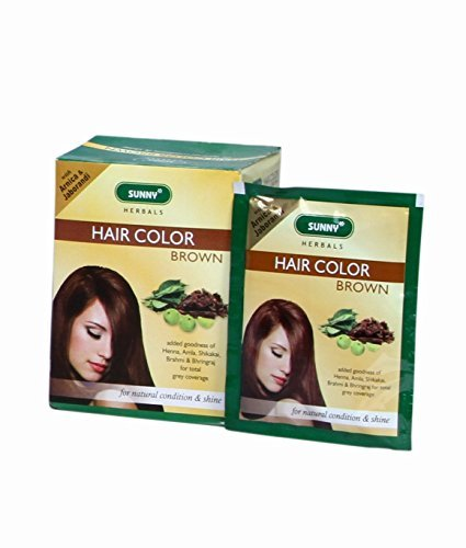 HERBAL HAIR COLOR DARK BROWN- Pack of 12 by Baksons (Image #1)