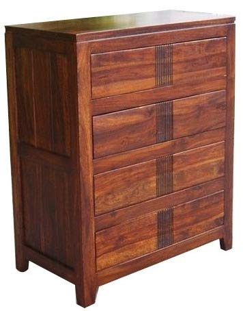 Shilpi Hand Carved Sheesham Wooden Chest of Drawers for Living Room Decor in Standard Size