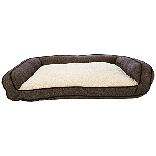(Harmony Memory Foam Couch Dog Bed in Brown, 48