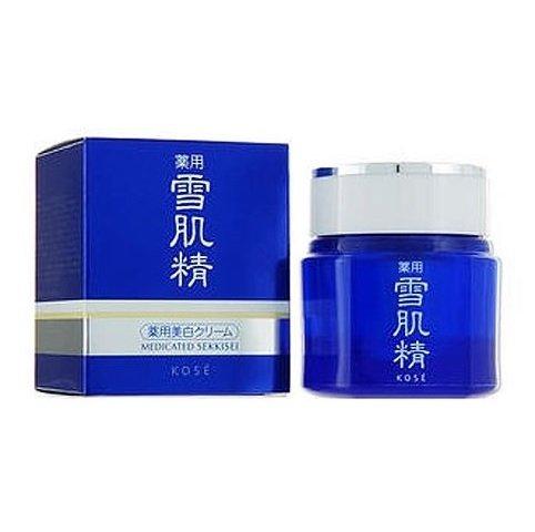 Kose Medicated Sekkisei Cream 40g Skincare Moisturizer Whitening White (Cream Whitening Sekkisei)
