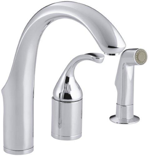 KOHLER K-10441-CP Forte Entertainment Remote Valve Sink Faucet, Polished (Control Remote Valve Kitchen Faucet)
