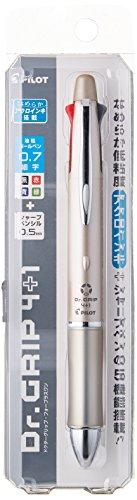 - Pilot Dr. Grip 4+1, 4 Color 0.7 mm Ballpoint Multi Pen & 0.5 mm Mechanical Pencil - Champagne Gold Body (BKHDF1SFN-CG)