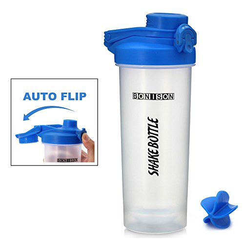 Bonison 24 oz Shake Bottle with Flip Top Spout, Mixer Ball t