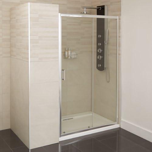 Puerta deslizante de ducha 1000 cristal 4 mm Nicho almacenaje: Amazon.es: Bricolaje y herramientas
