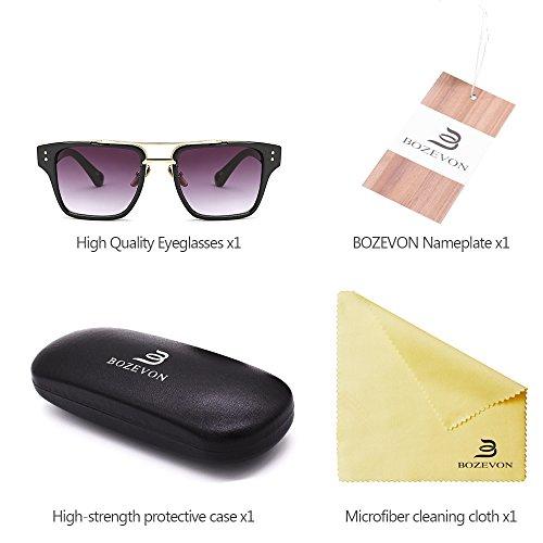 y para de Unisex Hombre Retro 03 UV400 de Extragrandes Verano Gafas Estilo sol Gafas BOZEVON Mujers x4nWzpCq
