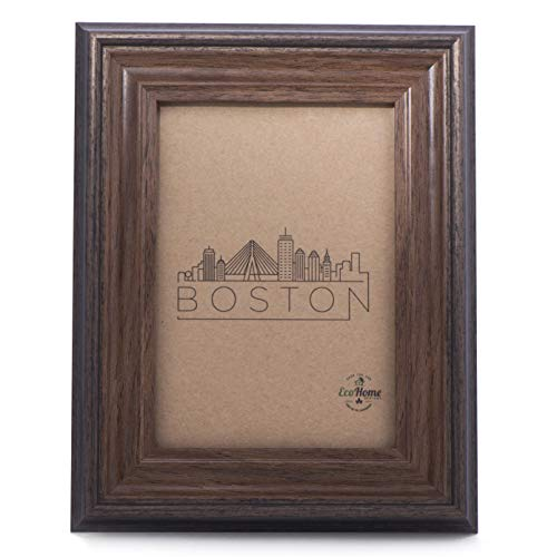 8x10 Picture Frame - Wall Mount or Desktop Display, Brown Frames by EcoHome