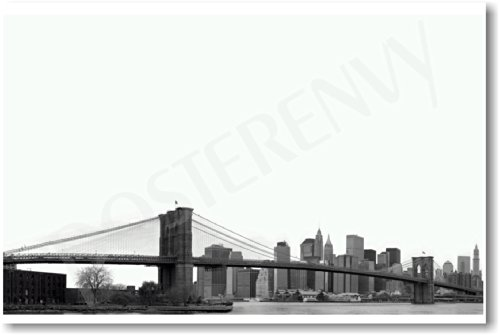 Brooklyn Bridge New York - New NYC Vintage Travel Poster