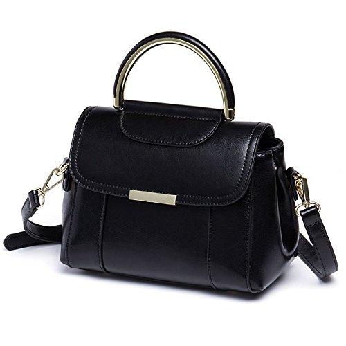 Ajlbt Femme Sac Main Messager Simple Casual De Shopping À Pour Dos Polyvalent Mode Black Bandoulière qqwrId