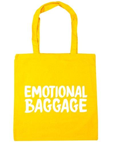 HippoWarehouse Emotional Gepäck Einkaufstasche Fitnessstudio Strandtasche 42cm x38cm, 10 liter - Gelb, One size