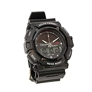 41bUrxWjgZL. SS300  - Men's Solar Sport Watch LED/ Quartz Combo Shock and Water Resistant SSW3 by ricco power