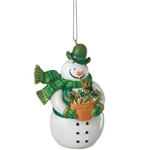 Irish Snowman Christmas Ornament