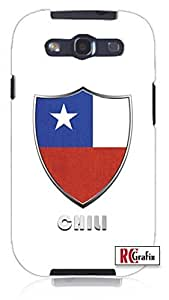 Cool Painting Premium Chili Flag Badge Direct UV Printed Unique Quality Hard Snap On Case for Samsung Galaxy S4 I9500 - White Case