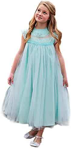 b051ce890 Big Girls Island Paradise Blue Smocked A-Line Junior Bridesmaid Easter Dress  7-10