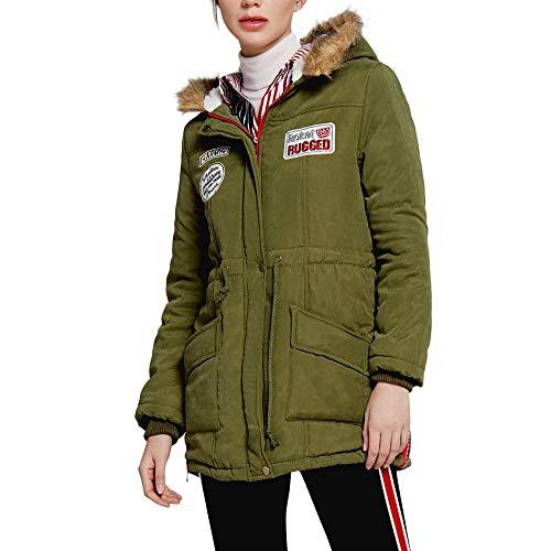 Moda Caliente Talla Chaquetas Esponjoso Mujer Verde Y De Ropa Mujer Abrigos Top Ashop Rebajas Casual Grande qHzYP