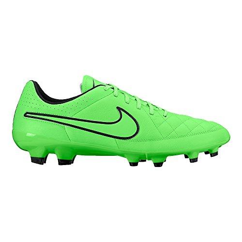 Tacchetta Da Calcio Nike Tiempo Genio In Pelle (nero, Verde)
