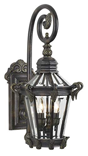 Minka Lavery 8931-95 2 Light Outdoor Wall Mount, Heritage with Gold Highlights Finish ()