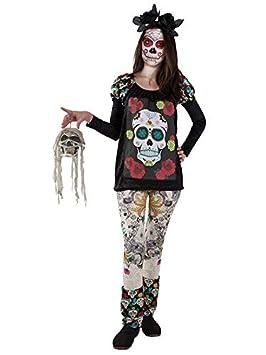 DISBACANAL Disfraz de Catrina - -, S: Amazon.es: Juguetes y juegos