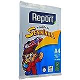 Suzano 51001374, Papel Sulfite A4 Report Senninha 75 g, BCO com 100 Folhas, Multicor