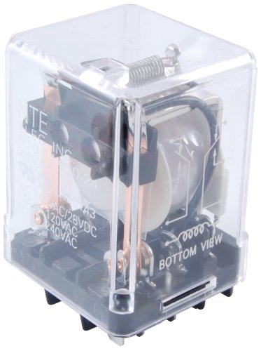 NTE Electronics R10-11D10-12F Series R10 General Purpose AC Relay, DPDT-NO Contact Arrangement, 10 Amp, 12 VDC, Flange Mount